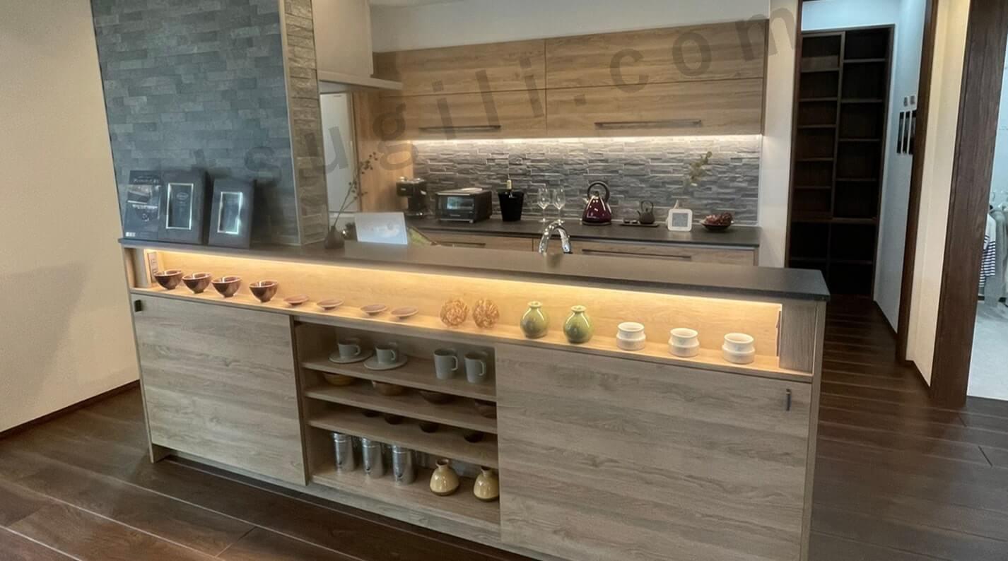 一条工務店の京都五条展示場のキッチンの画像1