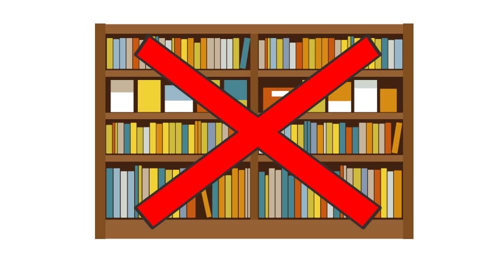 書斎の本棚の画像