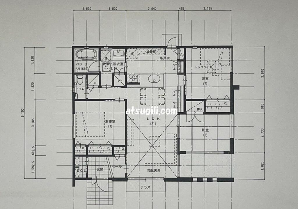 タウンライフ家づくりの間取り設計の画像