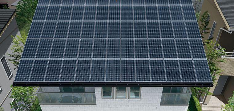 一条工務店の太陽光パネルの画像
