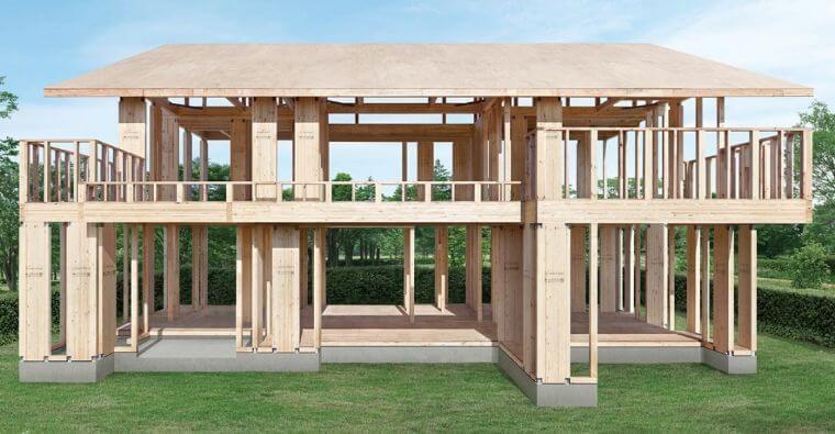 住友林業のビックフレーム構法の画像
